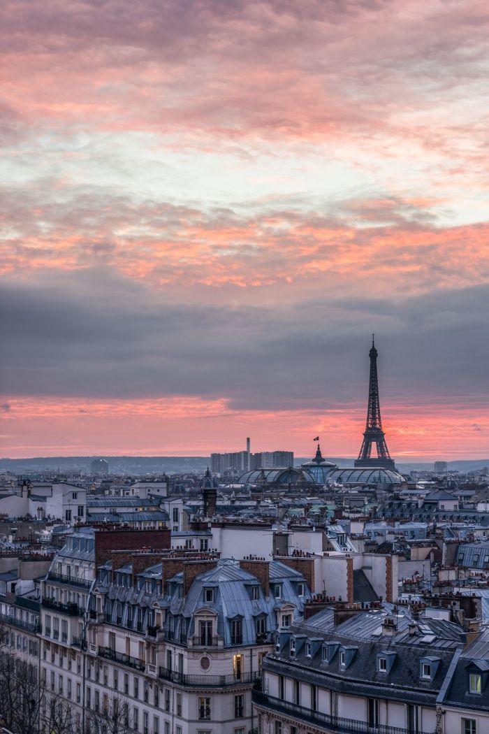 David Bertho – Coucher de soleil sur Paris
