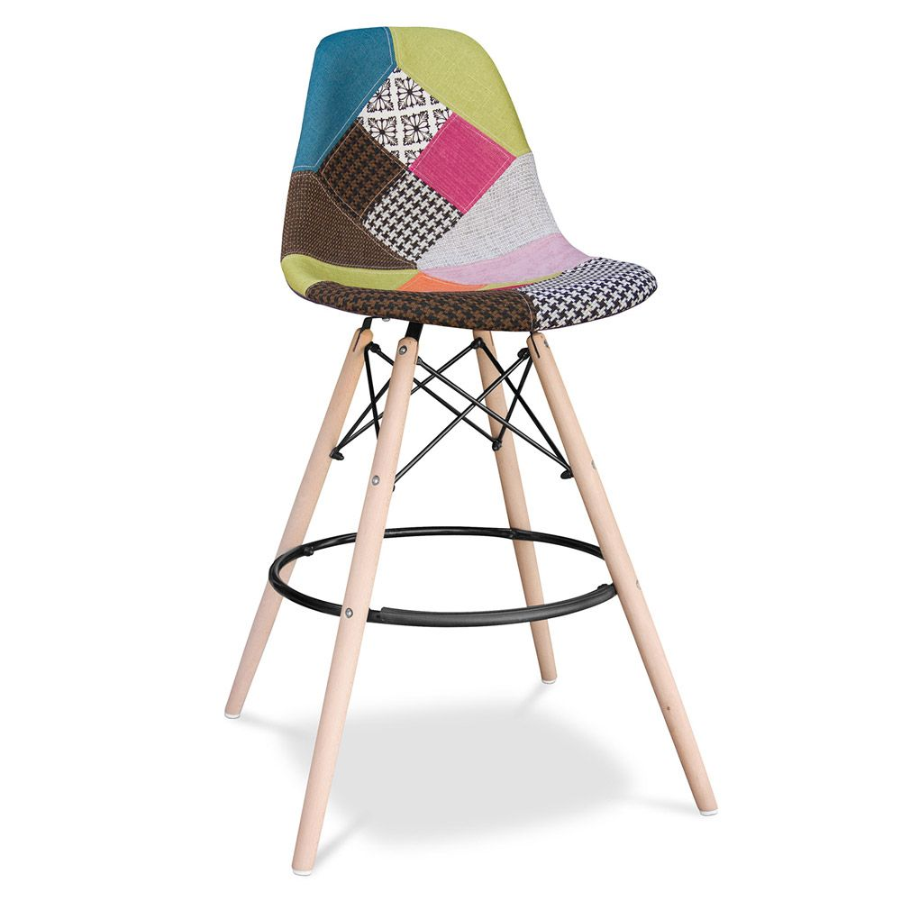 Dsw Stool Charles Eames Style Patchwork Comfortable Bar
