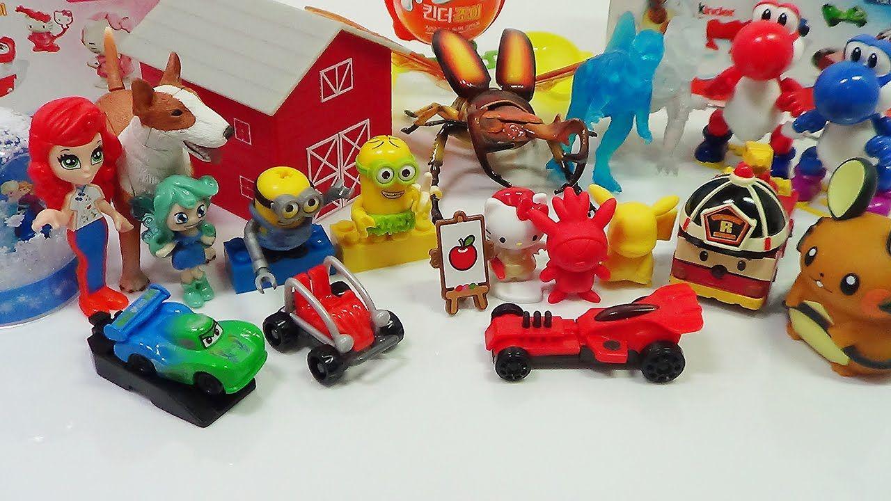 Eggs Kinder Joy Minion Car Hello kitty Beetle Dinosaur Frozen Dog Pikach...