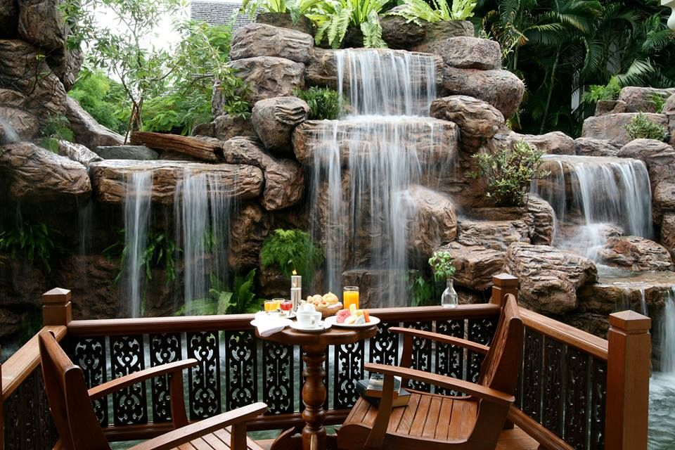 A cool garden setting at Khum Phaya Resort & Spa, in Chiang Mai.  www.centarahotelsresorts.com/kpc