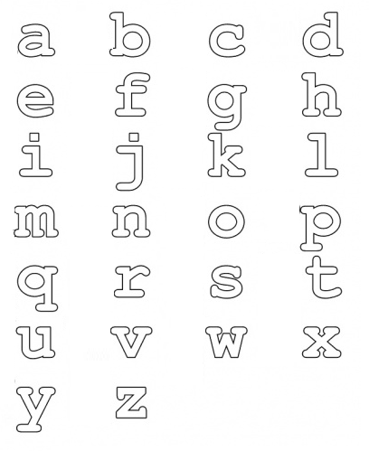 lower case alphabet colouring pages - Google Search (With ...