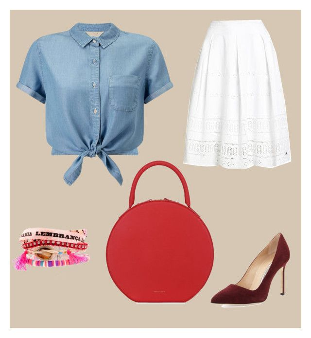 """""""Holiday looks #1"""" by echoiw on Polyvore featuring Mansur Gavriel, Superdry, Miss Selfridge, Manolo Blahnik and Hipanema"""