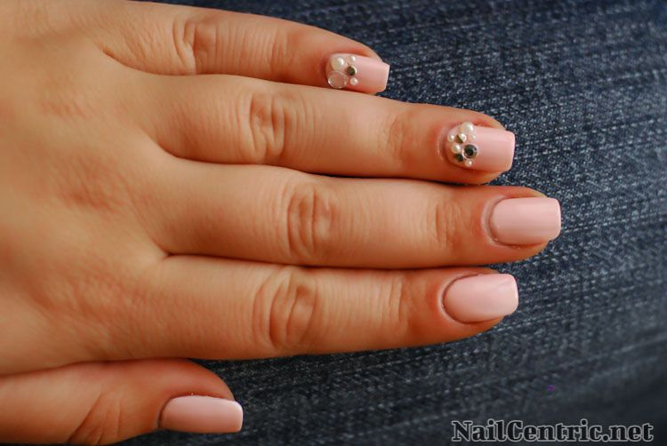 Wedding nail art: romantic pink and luxury jewels | nail art and ...