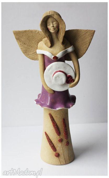 Anioł kapeluszem ceramika wylegarnia pomyslow aniołek anielica - figuren aus ton selber machen
