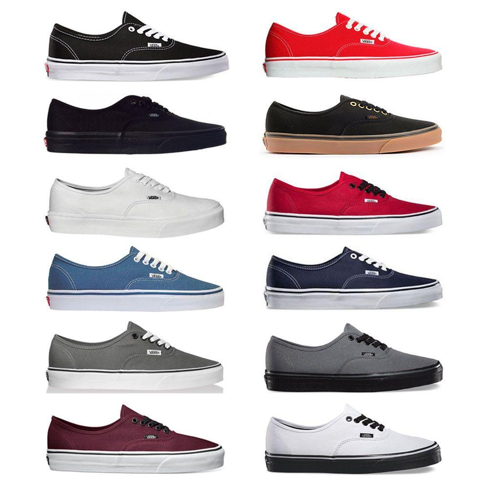 Vans Sneakers Canvas Unisex Shoes NEW