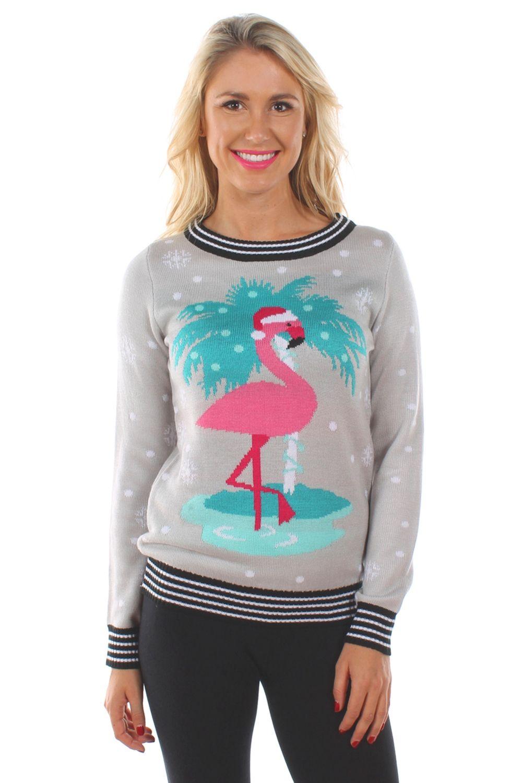 6f87ee697f4f62 Women's Santa Unicorn Sweater   flamingo   Christmas sweaters, Ugly ...