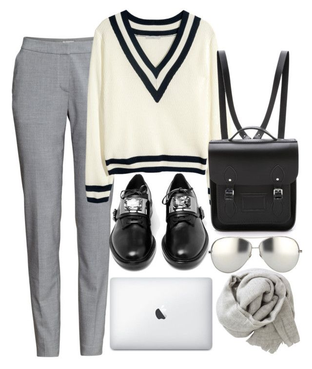 """""""experience"""" by gizemg4l ❤ liked on Polyvore featuring H&M, Casadei, The Cambridge Satchel Company, Linda Farrow and Brunello Cucinelli"""