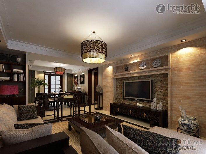 modern Chinese style of modern chinese style decoration - wohnzimmer mit galerie modern