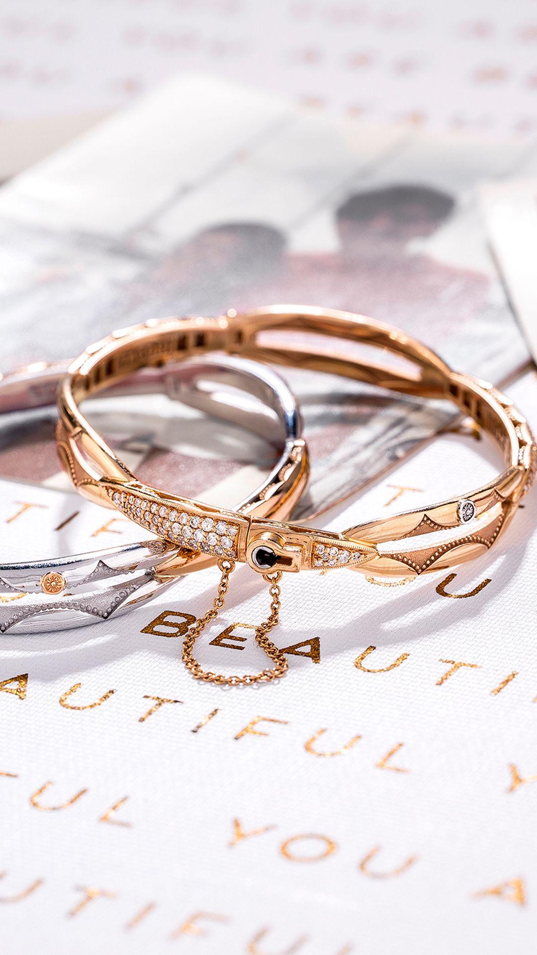 Promise Bracelet Round Rose Gold Promise Bracelet 10k Gold Bracelet Rose Gold Bracelet