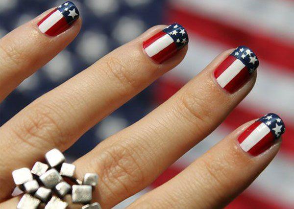 - 15 Interesting American Flag Inspired Nail Designs