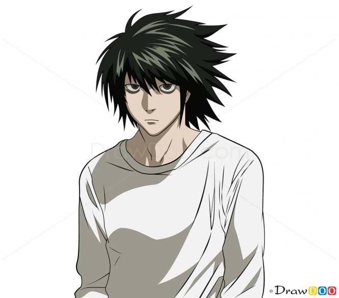How To Draw L Lawliet Death Note Anime Pinterest Death Note