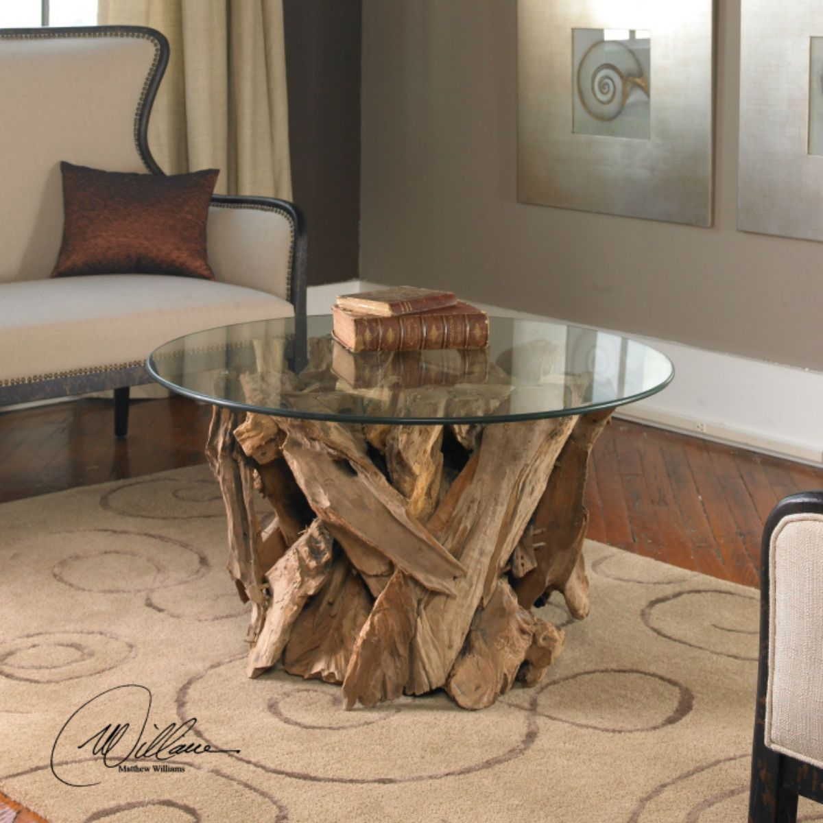 """Driftwood Cocktail Table 36""""w x 20""""h x 36""""d"""