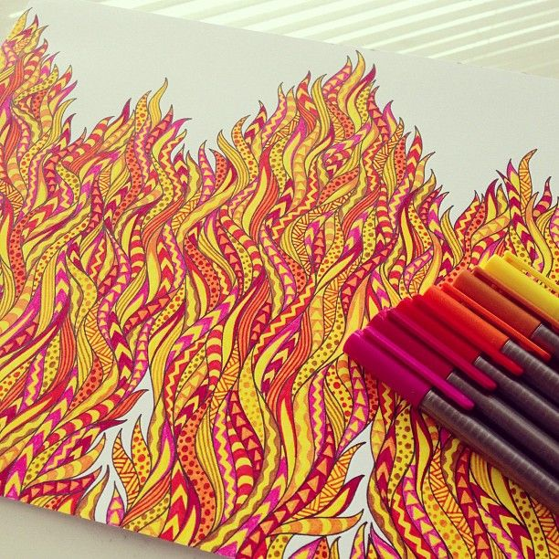 The colours of 'Fire'.
