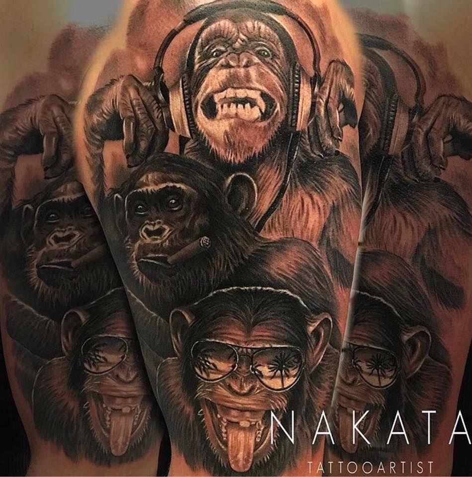 Chimpanzee tattoo by nakata limited availability at