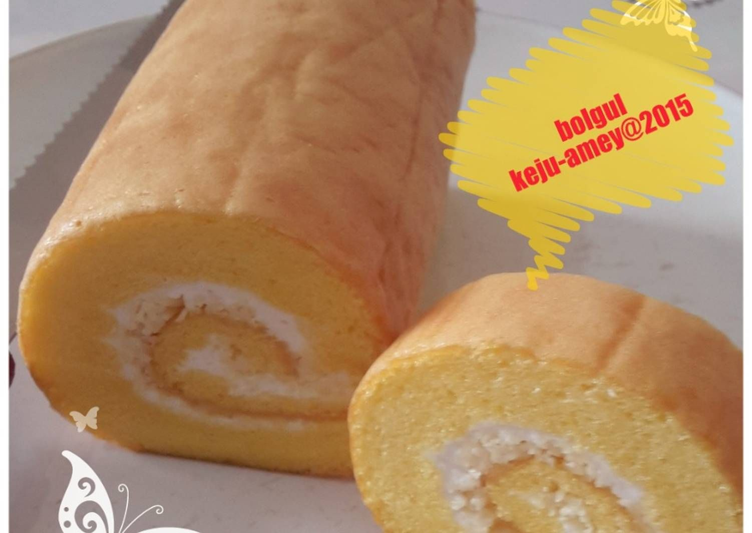 Resep Bolu Gulung Lembut Tnp Sp Oleh Amei Resep Makanan Penutup Makanan Makanan Dan Minuman