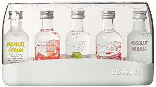 "Absolut Wodka Absolut Five ""Miniaturen""  (5 x 0.05 l) Absolut http://www.amazon.de/dp/B00752HRUC/ref=cm_sw_r_pi_dp_PTHAvb0FARMBJ"