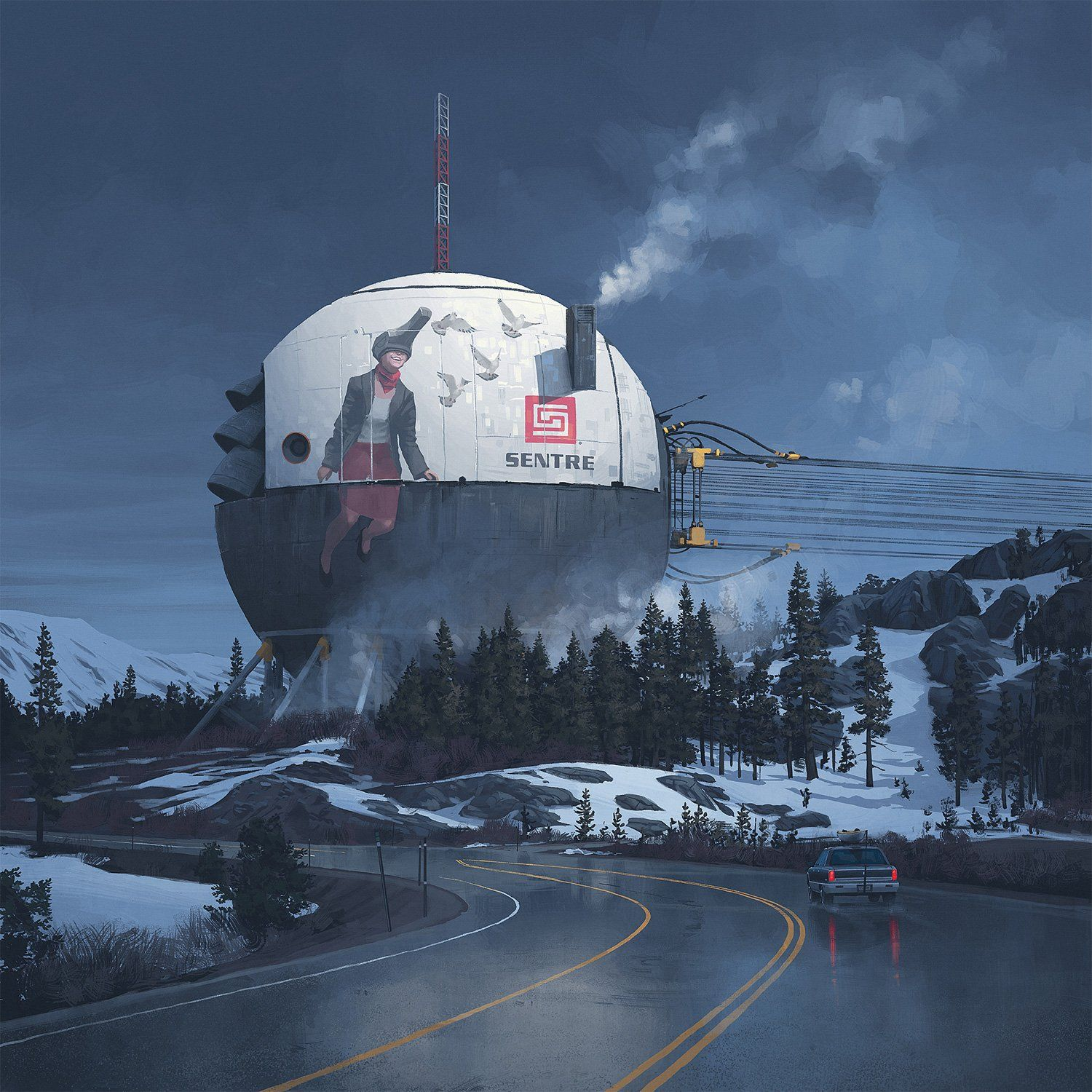 Interview: Simon Stålenhag discusses his fantastic, unsettling sci-fi paintings…