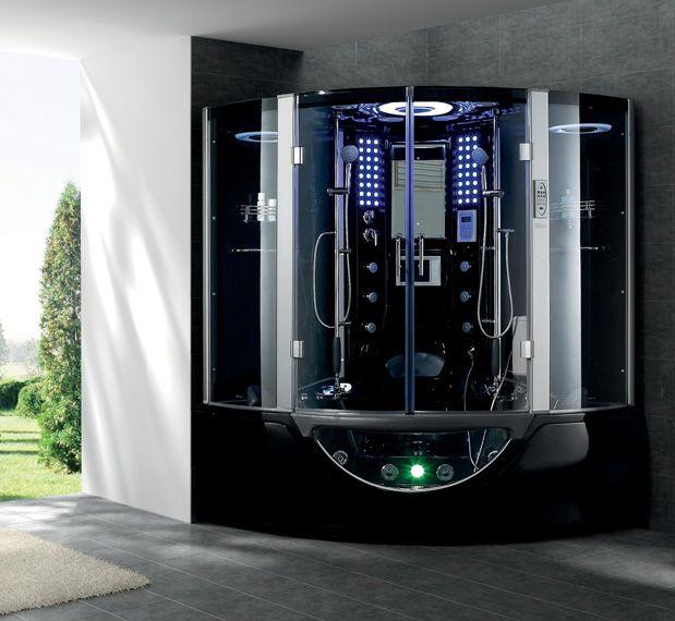 Pin By Mybathusa Com On Banos Steam Shower Enclosure Shower Massage Steam Showers