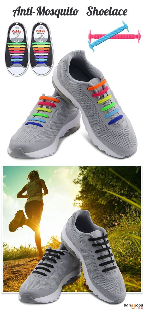 quality design 09be3 3e7d5 US 5.99 + Free shipping. Anti Mosquito, Mosquito Repellent Shoelaces, No  Tie Shoelaces, Multicolor Shoelaces, Elastic Silicone Footwear. Material   Silicone.