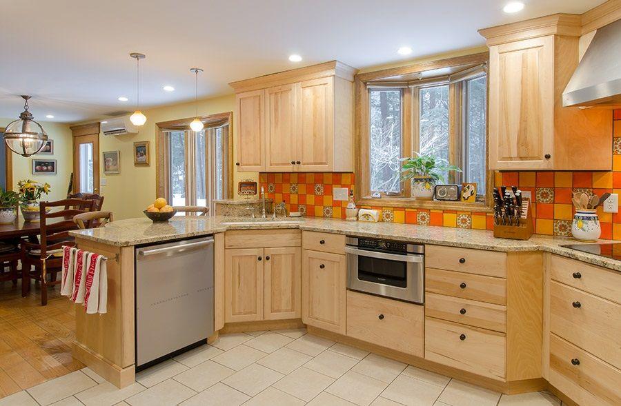 Best Country Kitchen Natural Birch Cabinets Granite 400 x 300