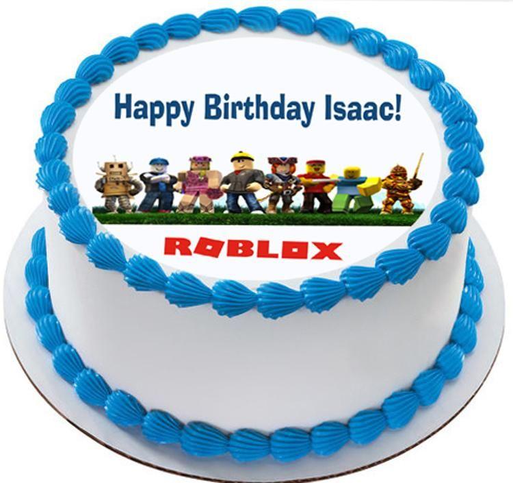 Roblox Edible Cake Topper Roblox Edible Cake Topper Cupcake Toppers Strips Birthday Cake Toppers Boy Birthday Cake Roblox Cake