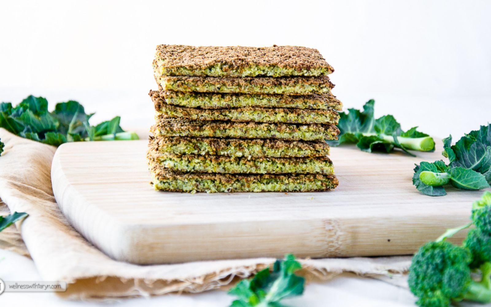 Broccoli flatbread vegan sugarfree glutenfree one