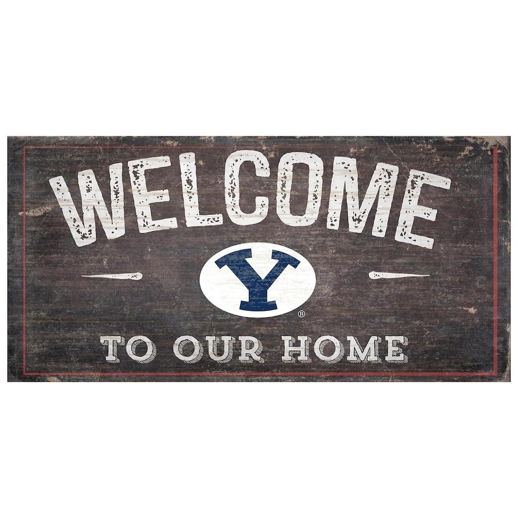 Byu Cougars Welcome Sign Wall Art In 2020 Byu Cougars Byu Wall Signs