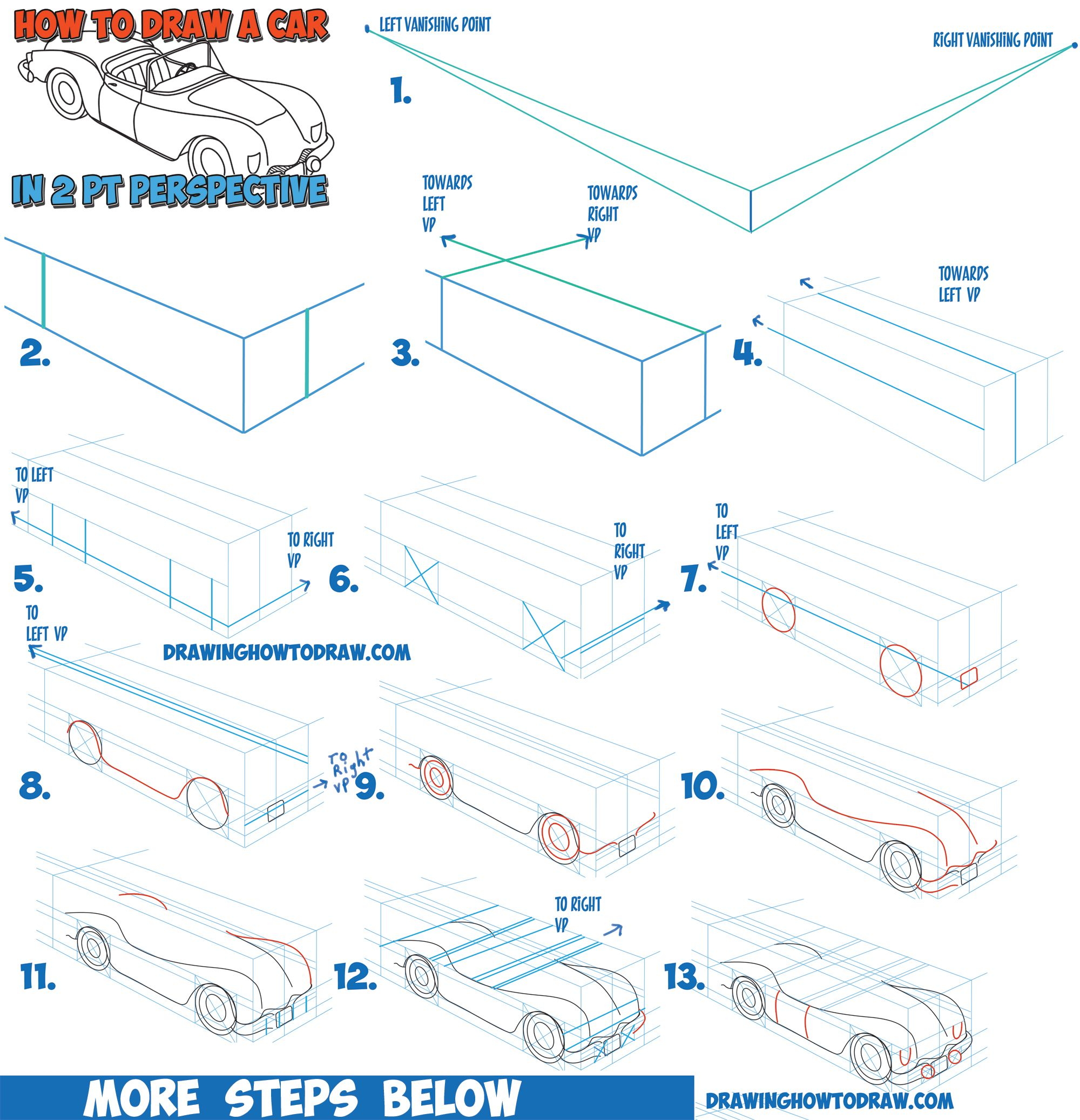 How To Draw A Car Convertible In Two Point Perspective