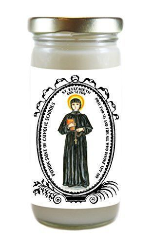 St Elizabeth Ann Setton Patron of Catholic Schools 8 Ounce Scented Soy Prayer Candle