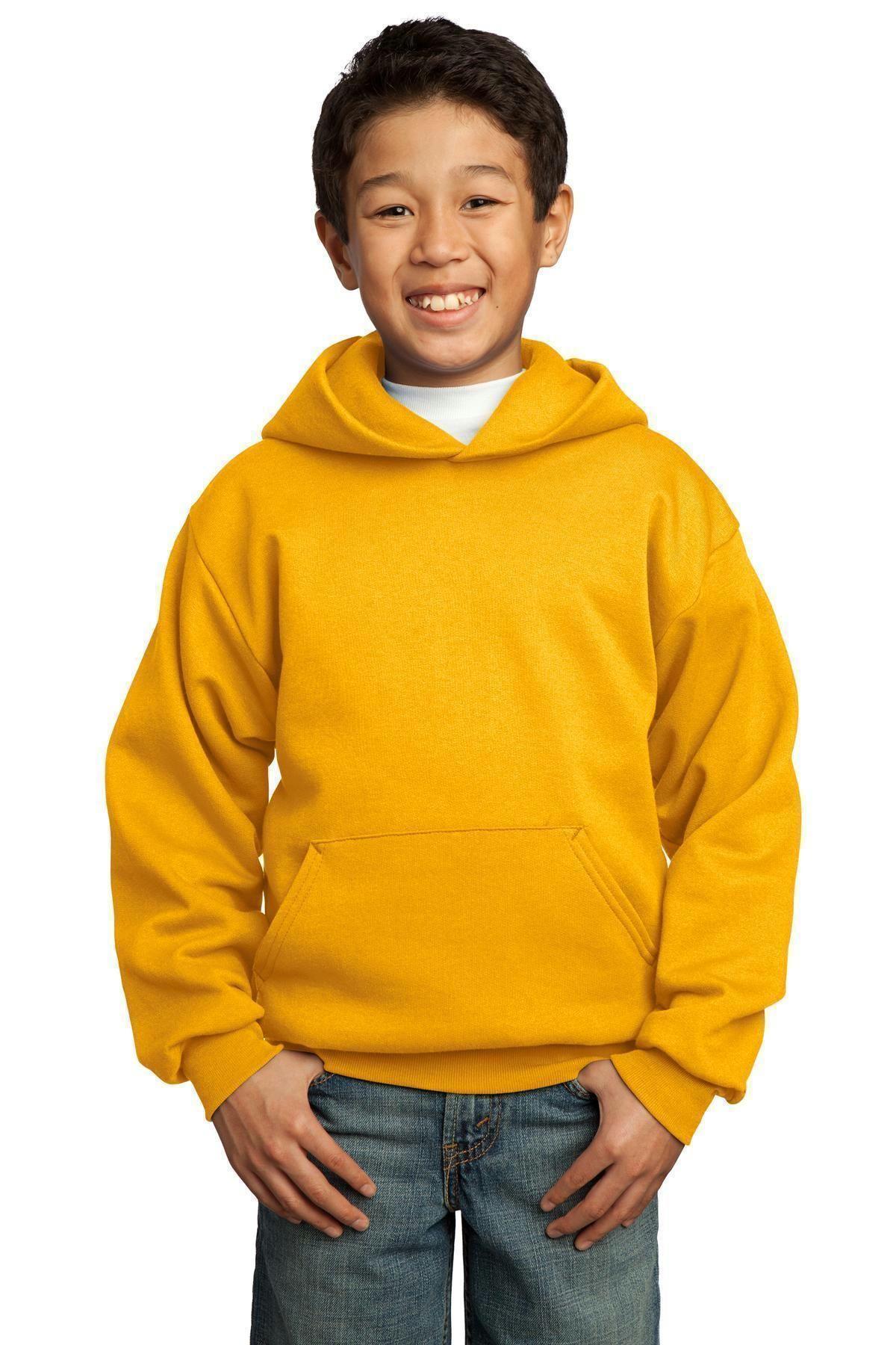 Small Youth Gildan Heavyweight Blend Hooded Sweatshirt in Carolina Blue 6//8