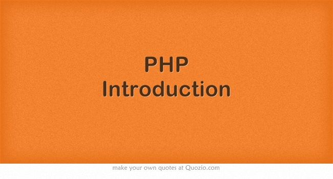PHP Introduction by W3Schools | PHP | Scripting language, Coding, Python