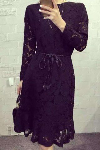 GET $50 NOW | Join RoseGal: Get YOUR $50 NOW!http://www.rosegal.com/lace-dresses/elegant-round-collar-long-sleeves-440866.html?seid=6647607rg440866