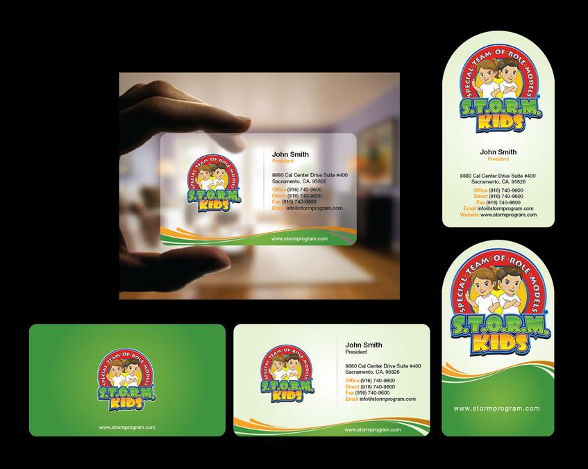 S.T.O.R.M. Program Business Card by FishingArtz | Logo Design ...