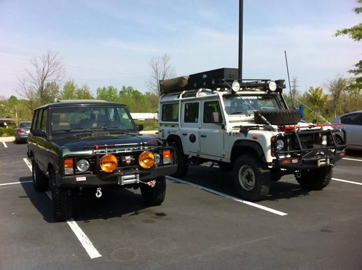 Range Rover Classic and a Defender 110
