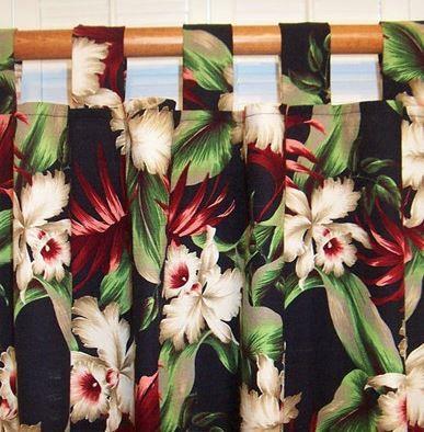 Hawaiian+curtains   Tropical Curtains For Your Hawaiian Home