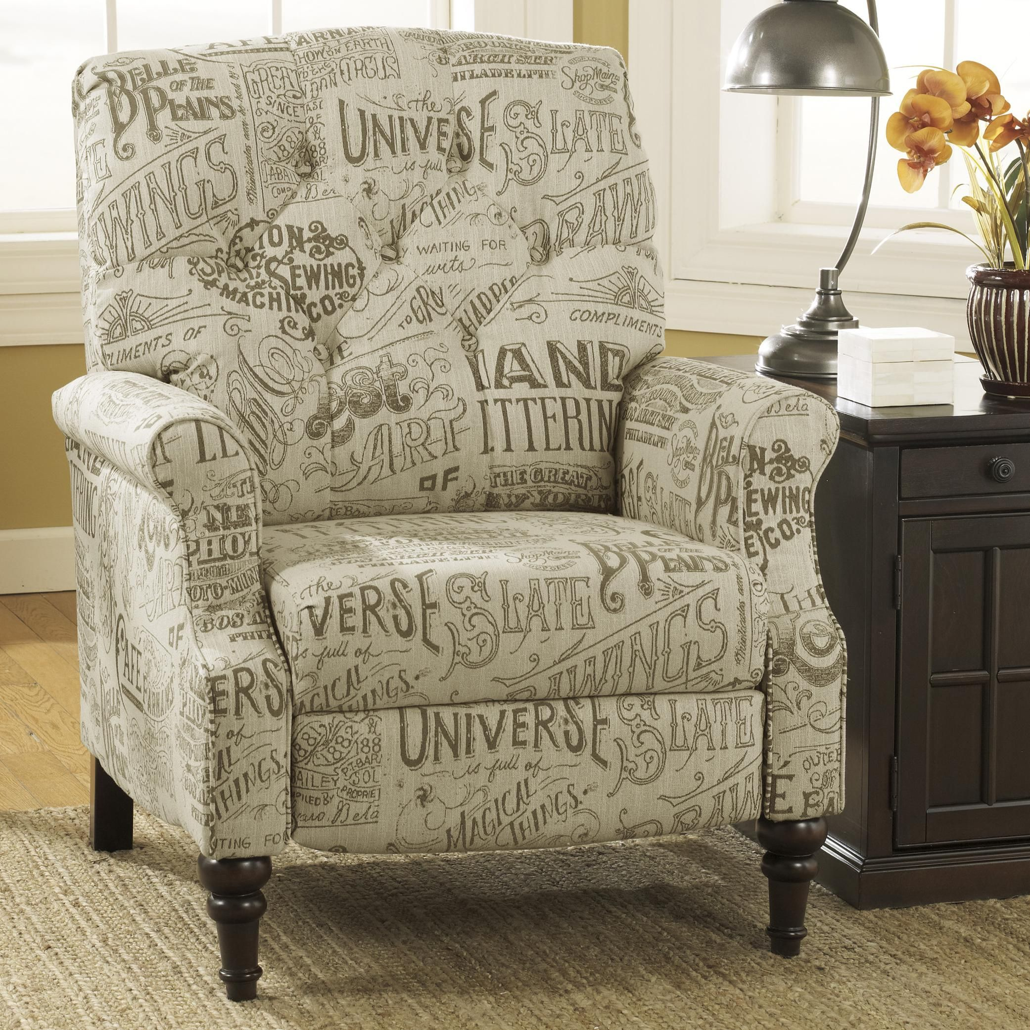 High Leg Recliner Stahlworth Script Transitional High