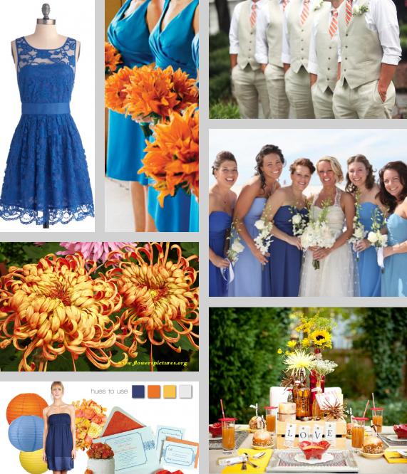 Orange And Blue Fall Wedding Ideas