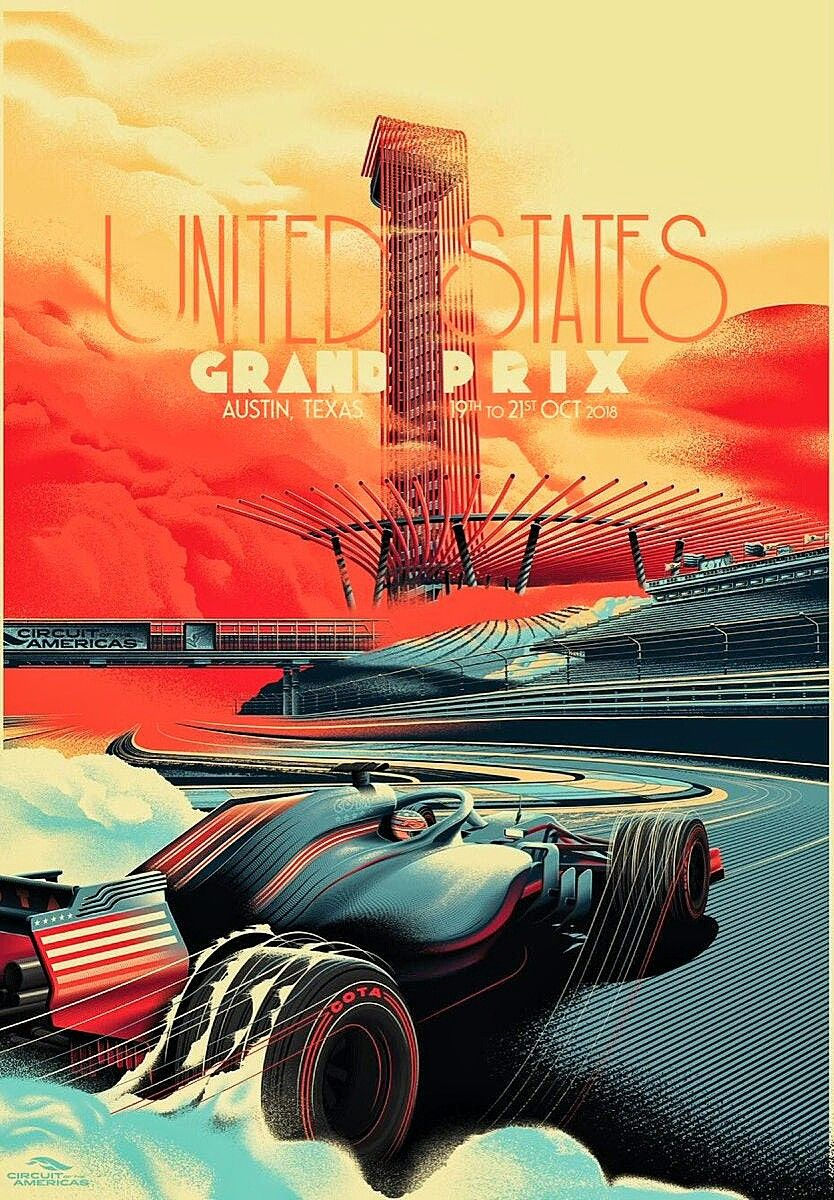 Fantastic us gp poster from the graphic artists at the