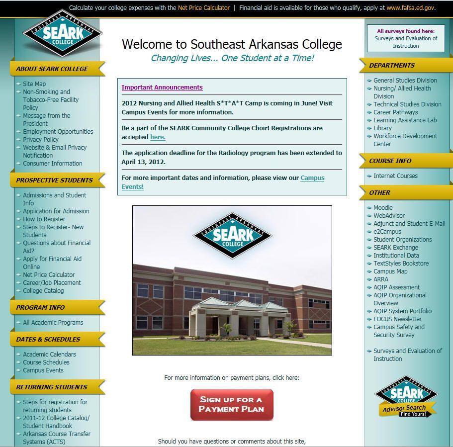 Southeast Arkansas College College College Expenses Arkansas
