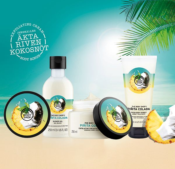 the body shop pina colada collection 2016 y 2016 pinterest. Black Bedroom Furniture Sets. Home Design Ideas