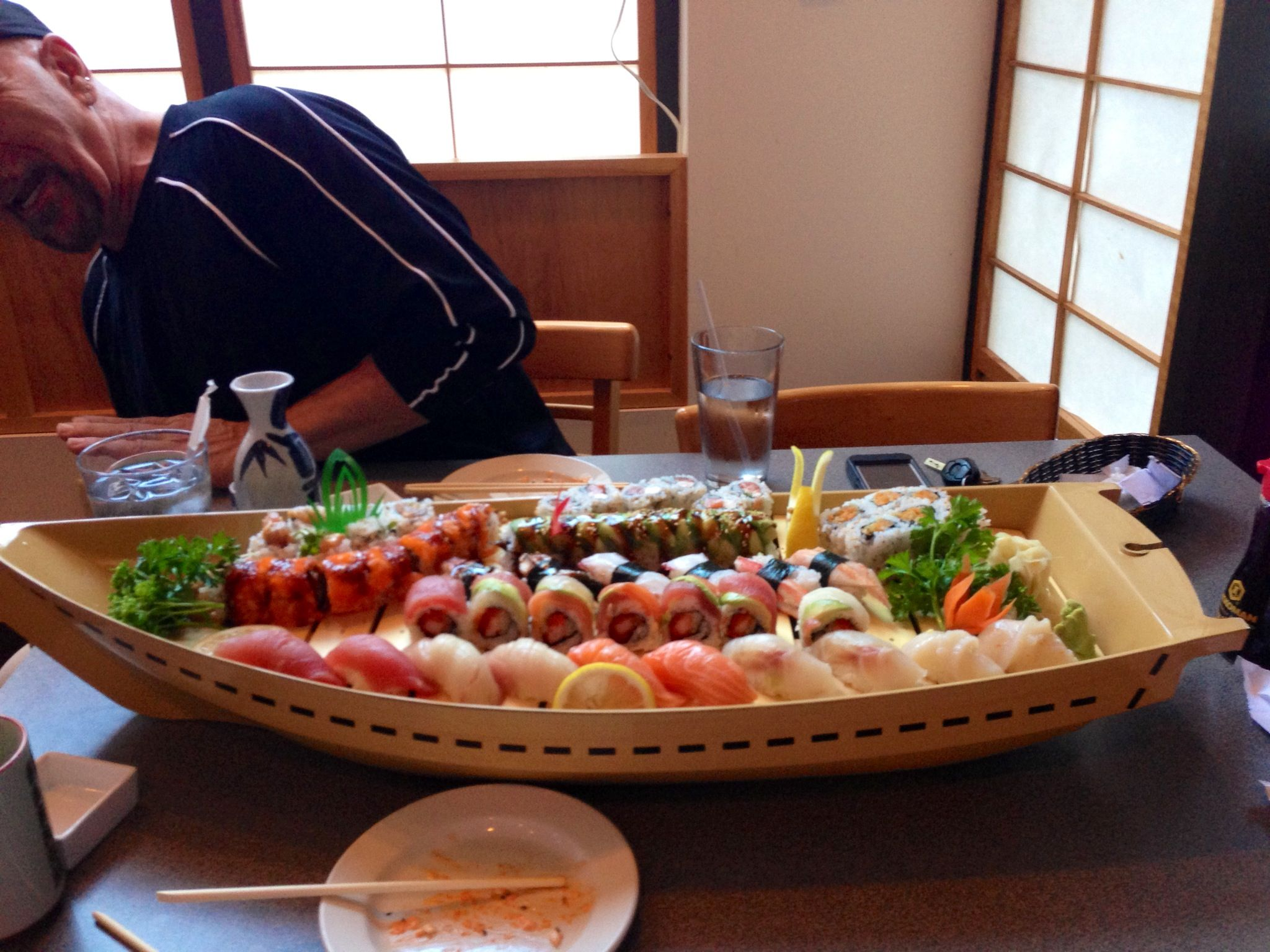 Sushi Boat! 60 pieces. Sushi dinner, Sushi