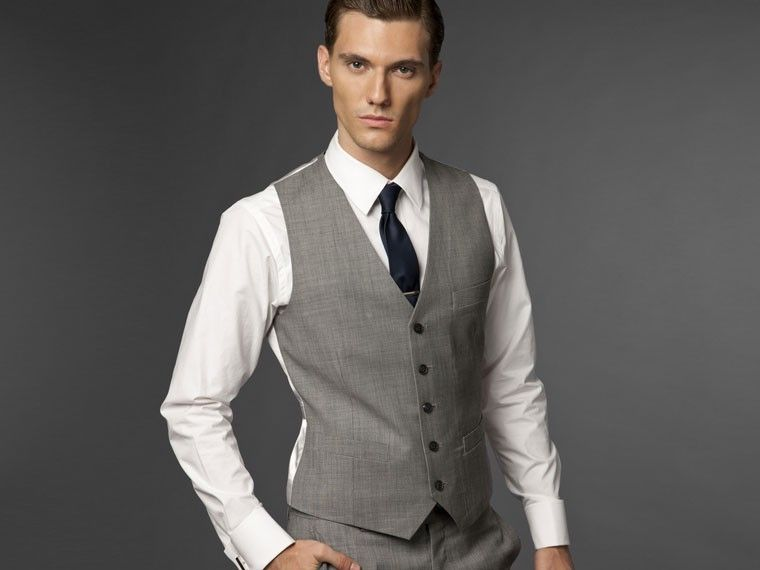 PERFECT!!! Light Gray Three Piece Suit Vest - @Hana Hart, whatcha ...