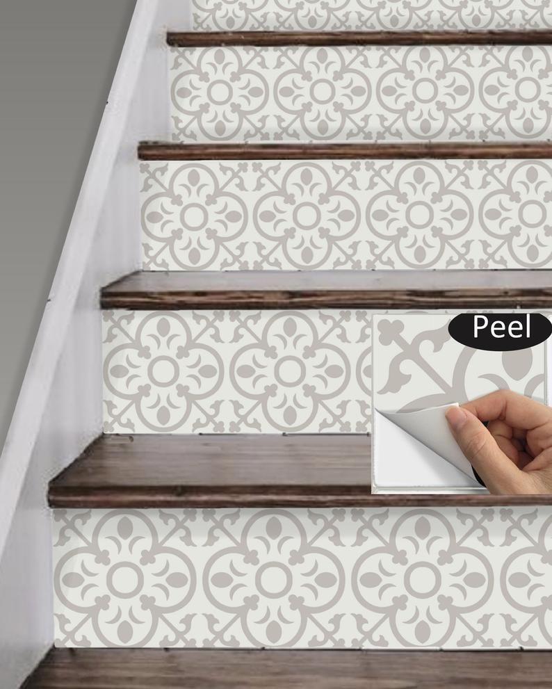Stair Riser Vinyl Strips 15 steps Removable Sticke