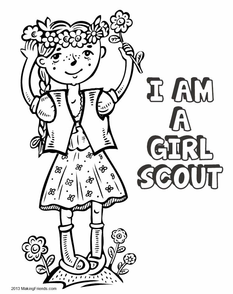 girl scout coloring pages 2