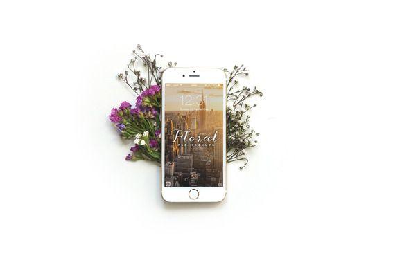 Download Floral Iphone 6 Mockup Floral Iphone Iphone Mockup Free Psd Mockups Templates