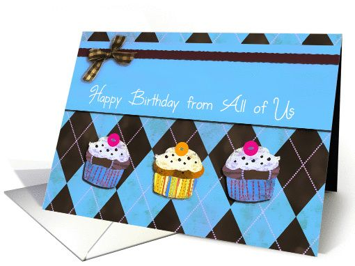 Happy birthday from all of us business birthday card cupcakes card happy birthday from all of us business birthday card cupcakes card reheart Gallery
