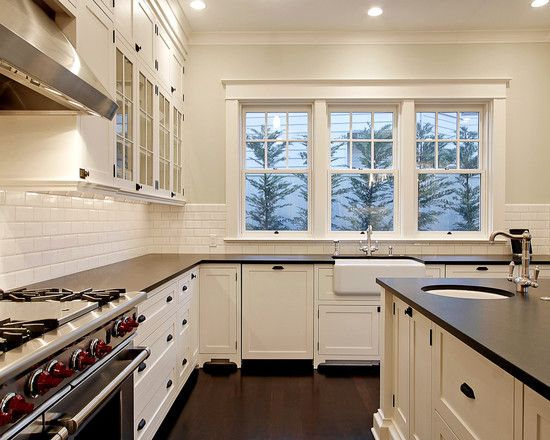 Really Stark Oil Rubbed Bronze White Cabinets Black