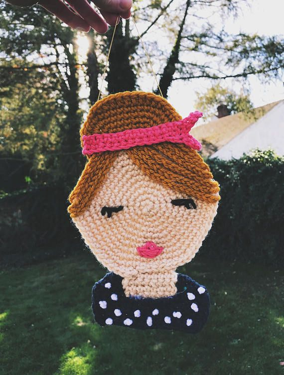 Custom Crochet Portrait Perfect gift for women and girls