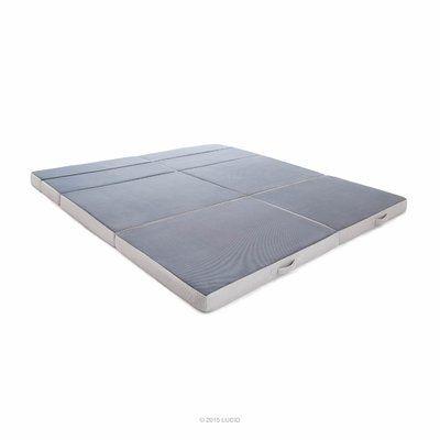 Alwyn Home Niantic Folding 4 Firm Memory Foam Mattress Mattress Size King Mattress Foam Sofa Bed Foam Mattress