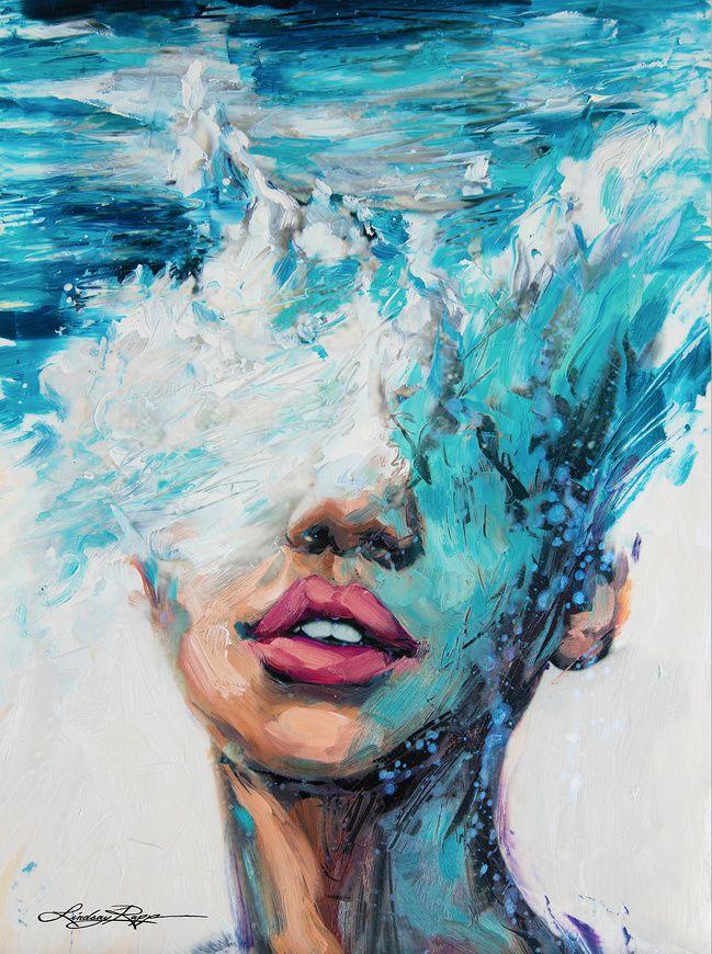 Esta extraordinaria artista pinta el mar como si fuera una hermosa mujer
